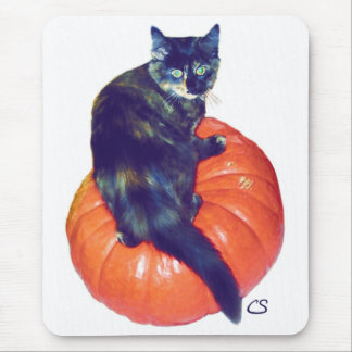 Young Samhain on her Pumpkin Mouse Pad