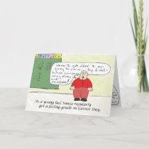Young Santa Holiday Card
