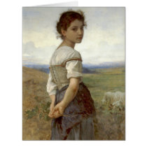Young Shepherdess 1885 Card