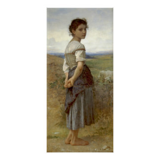 Young Shepherdess 1885 Poster