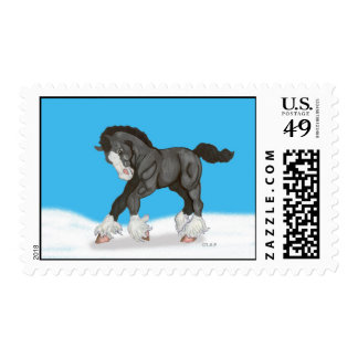 Young Shire Horse Postage