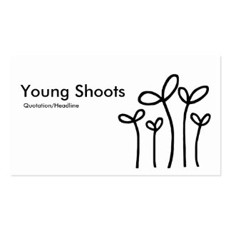 Young Shoots - Black on White Business Card