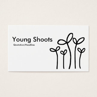 Young Shoots - Black on White (Eggshell) Business Card