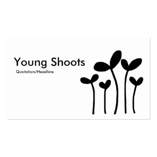 Young Shoots v2 - Black on White Business Card