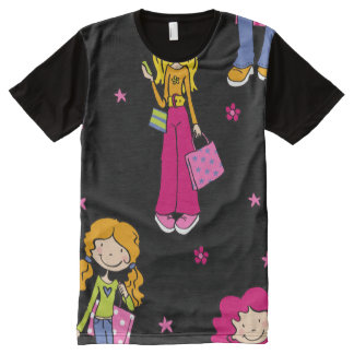 Young Shopping Girls All-Over-Print T-Shirt