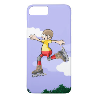 Young skate on wheels giving a great jump iPhone 8 plus/7 plus case