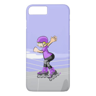 Young skate on wheels with winner attitude iPhone 8 plus/7 plus case