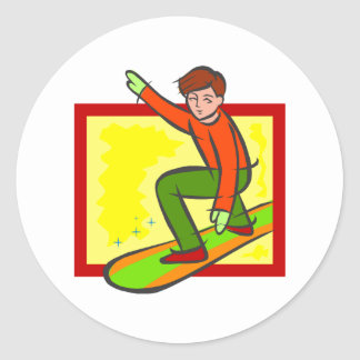 Young Snowboarder Sticker