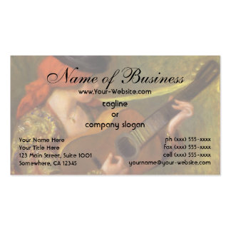 Young Spanish Woman by Pierre Auguste Renoir Business Card