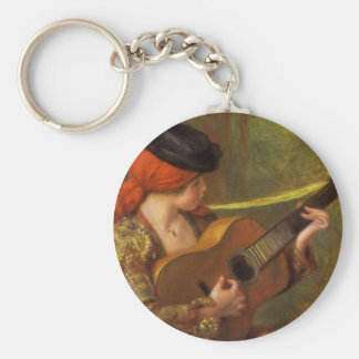 Young Spanish Woman by Renoir, Impressionism Art Keychains