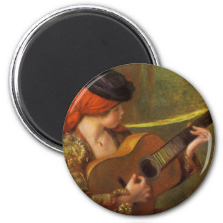 Young Spanish Woman by Renoir, Impressionism Art Refrigerator Magnet