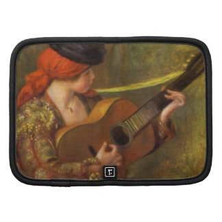 Young Spanish Woman by Renoir, Impressionism Art Folio Planner
