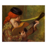 Young Spanish Woman by Renoir, Impressionism Art Poster
