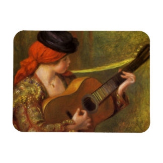 Young Spanish Woman by Renoir, Impressionism Art Magnets