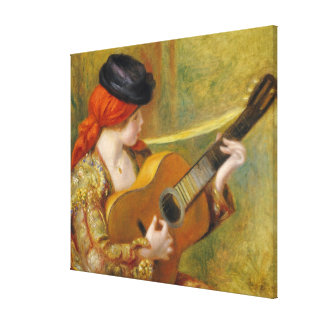 Young Spanish Woman with a Guitar, 1898 Canvas Print