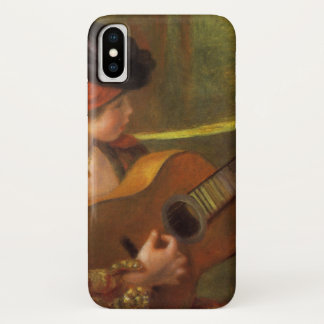Young Spanish Woman with a Guitar by Pierre Renoir iPhone X Case