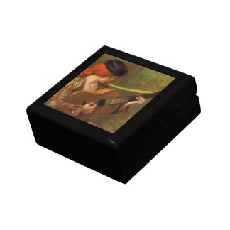 Young Spanish Woman with a Guitar by Pierre Renoir Keepsake Box