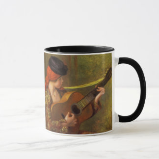 Young Spanish Woman with a Guitar by Pierre Renoir Mug