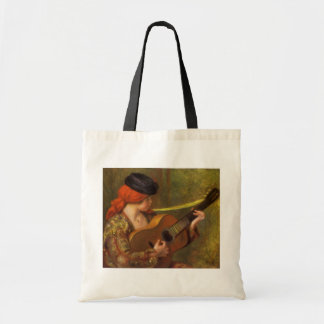 Young Spanish Woman with a Guitar by Pierre Renoir Tote Bag