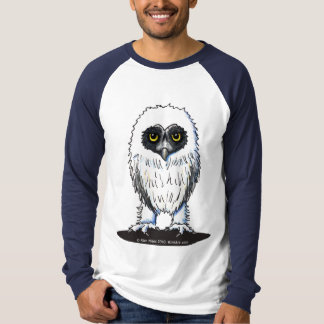 Young Spectacled Owl Long Sleeve Raglan T-Shirt