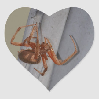 Young Spider spins a web Heart Sticker