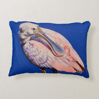 Young Spoonbill Preening Accent Pillow