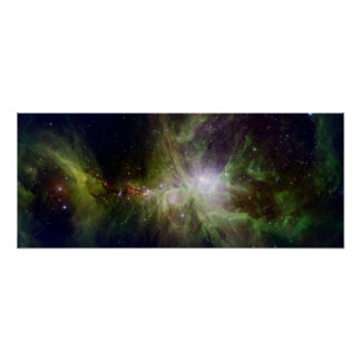 Young stars in the Orion Nebula Poster
