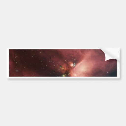Young Stars in Their Baby Blanket of Dust Bumper Stickers