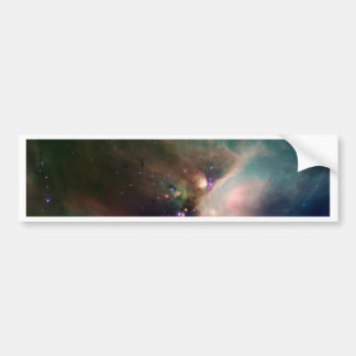 Young Stars in Their Baby Blanket of Dust Bumper Sticker