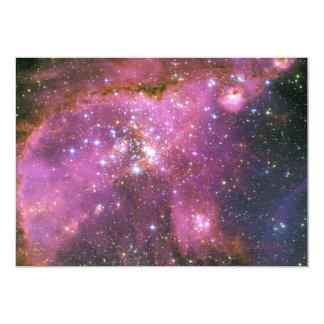 Young Stars Sculpt Gas Small Magellanic Cloud 5x7 Paper Invitation Card