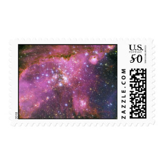 Young Stars Sculpt Gas Small Magellanic Cloud Postage