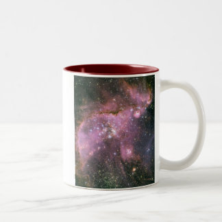 Young Stars Sculpt Gas with Powerful Outflows Two-Tone Coffee Mug