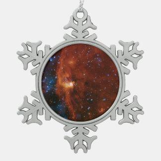 Young Stars Stellar Birth Snowflake Pewter Christmas Ornament