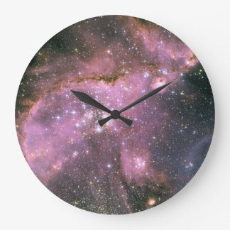 Young Stars with Pink Wall Clock