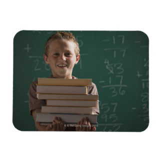 Young student in classroom magnet