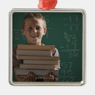 Young student in classroom metal ornament