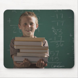 Young student in classroom mouse pad