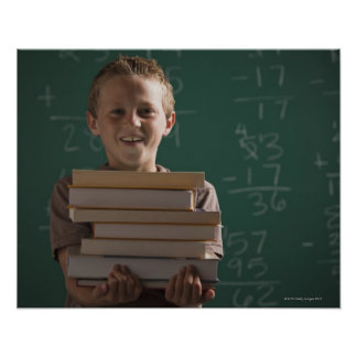 Young student in classroom poster