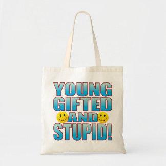 Young Stupid Life B Tote Bag
