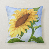 Young Sunflower Pillow