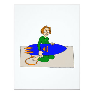 Young Surfer Boy Card