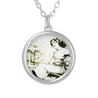 Young Swinger Round Pendant Necklace
