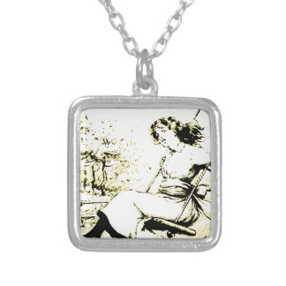 Young Swinger Square Pendant Necklace