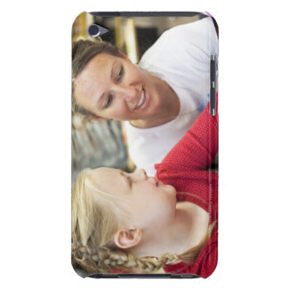 young teacher discussing homework w/ student iPod touch case