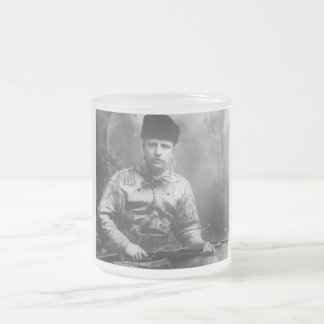 Young Teddy Roosevelt Frosted Glass Coffee Mug