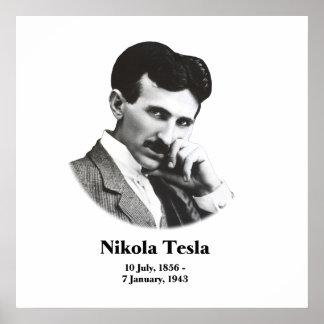 Young Tesla Art Print Poster