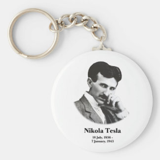Young Tesla Basic Round Button Keychain