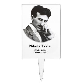 Young Tesla Cake Topper