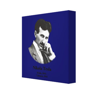 Young Tesla Gallery Wrapped Canvas