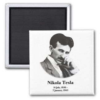 Young Tesla 2 Inch Square Magnet